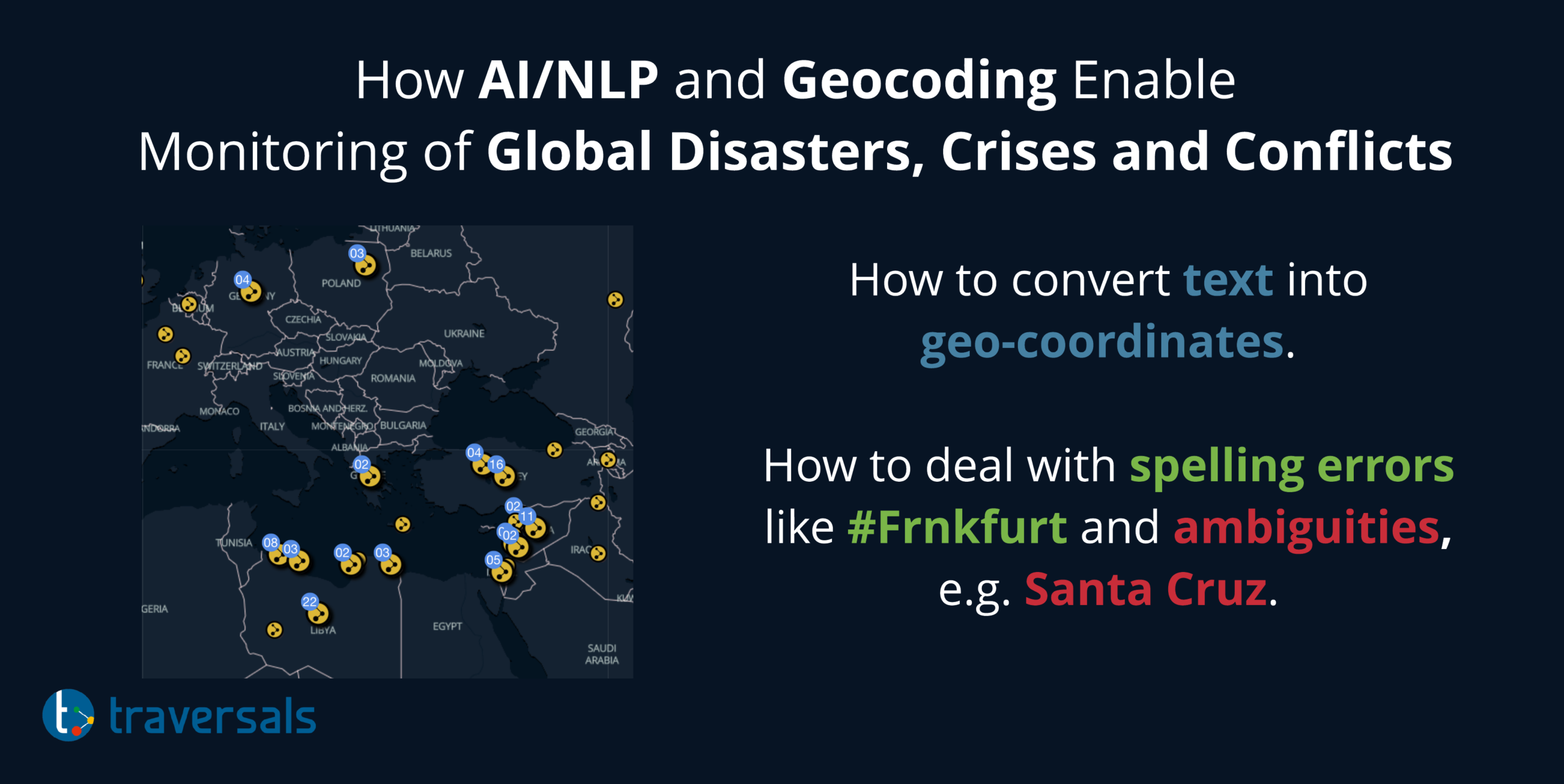 How AI/NLP and Geocoding Support Monitoring of Global Conflicts